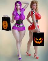 Regina and Adriana Halloween by ArchivistOmega