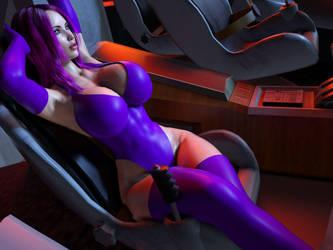 Regina in her Spaceship 2 by ArchivistOmega