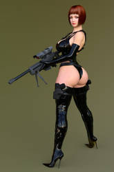 Linda combat gear by ArchivistOmega