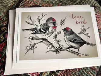 Valentine's Day 'Love Bird' Card by yolque