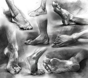 Anatomy Foot Studies 2016 by yolque