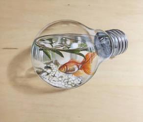 Light Bulb Aquarium by ivanhooart