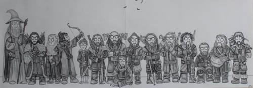 The Hobbit - Fellowship by FrerinHagsolb