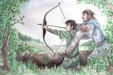 On the Hunt (Hurin, Huor) by FrerinHagsolb