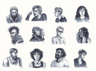 People (Marker Sketches) by FrerinHagsolb
