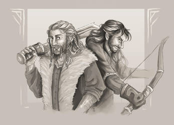 Durin Brothers (Speedpaint) by FrerinHagsolb