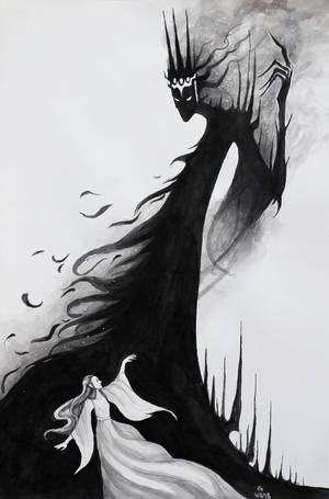 Lull The Black Foe (Luthien and Morgoth) by FrerinHagsolb