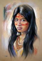 Native American girl by csillabold