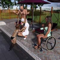 Hospital visit out pool by steske