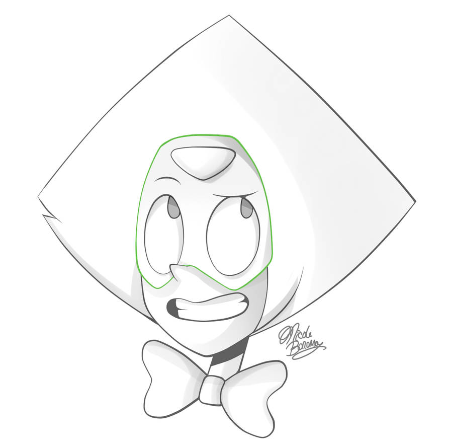 Peridot with a fancy bow. Please do not use without permission. Download for better quality.
