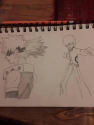 Bakugo and Izuku Sketch, still in progress  by Novabow347