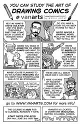 VanArts Comic Book Class with Steve Rolston by steverolston