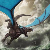 Stormglider Dragon by SarahJaneArt