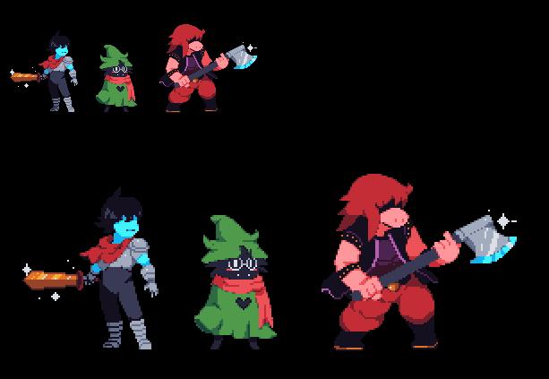 Deltarune- (Undertale2) Main Characters by Zeh1999