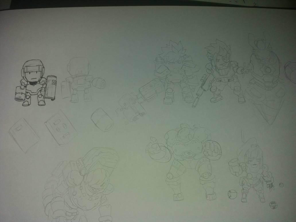 --Smash shot-- Rough Sketchs by Zeh1999