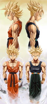 Trunks and Goten SSJ2 by NovaSayajinGoku