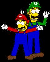 Super Simpson Bros by Dee-Artist