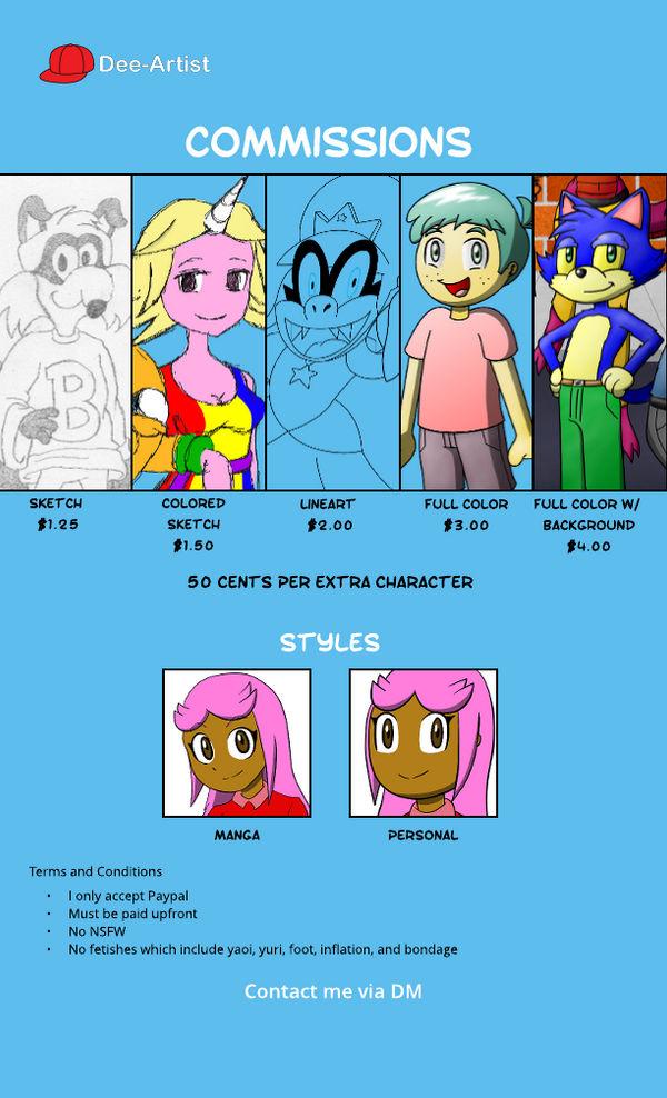Dee-Artist Commissions! by Dee-Artist