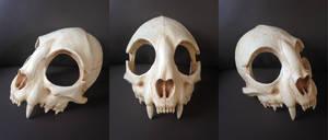Cat Skull Mask - painted (top) by Bueshang