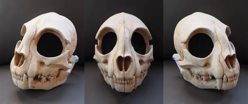 Full Cat Skull Mask - Painted by Bueshang