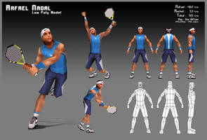 Rafael Nadal - Low Poly by KevDC