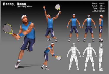 Rafael Nadal - Low Poly by KevDC