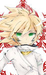 Small Young Ragna Phone Art (Containment of Azure) by MercilessPrimrose
