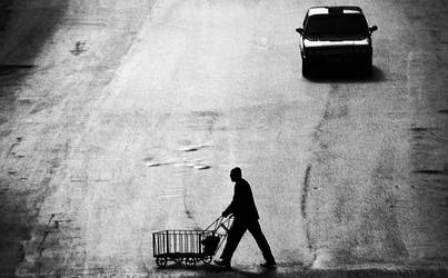 Man and The Taxi by cahilus