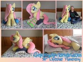 38 inch Lifesize Fluttershy plush by qtpony