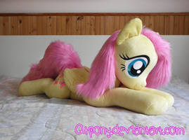 34 inch laying Fluttershy by qtpony