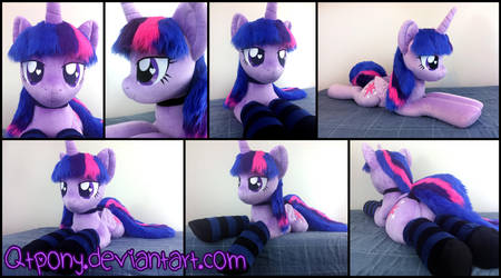 45in laying Lifesize Twilight Sparkle plush by qtpony