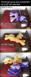 Standing/laying plush size comparison by qtpony