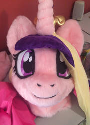 Updated Princess Cadance fursuit head by qtpony