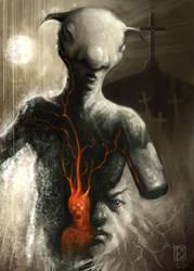 Goatlike humanoid by DanielKarlsson