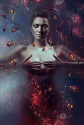 Moth to a flame by DesignbyKatt