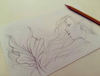 Siren Sketch by Valentinadhara