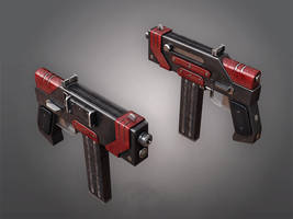 Submachine gun KWG-001 (blackred) by Kutejnikov