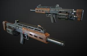 Revolver Shotgun #3 by Kutejnikov