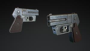 Double-Barreled Derringer by Kutejnikov