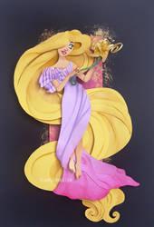 Paper Princess: Rapunzel by Tella-in-SA