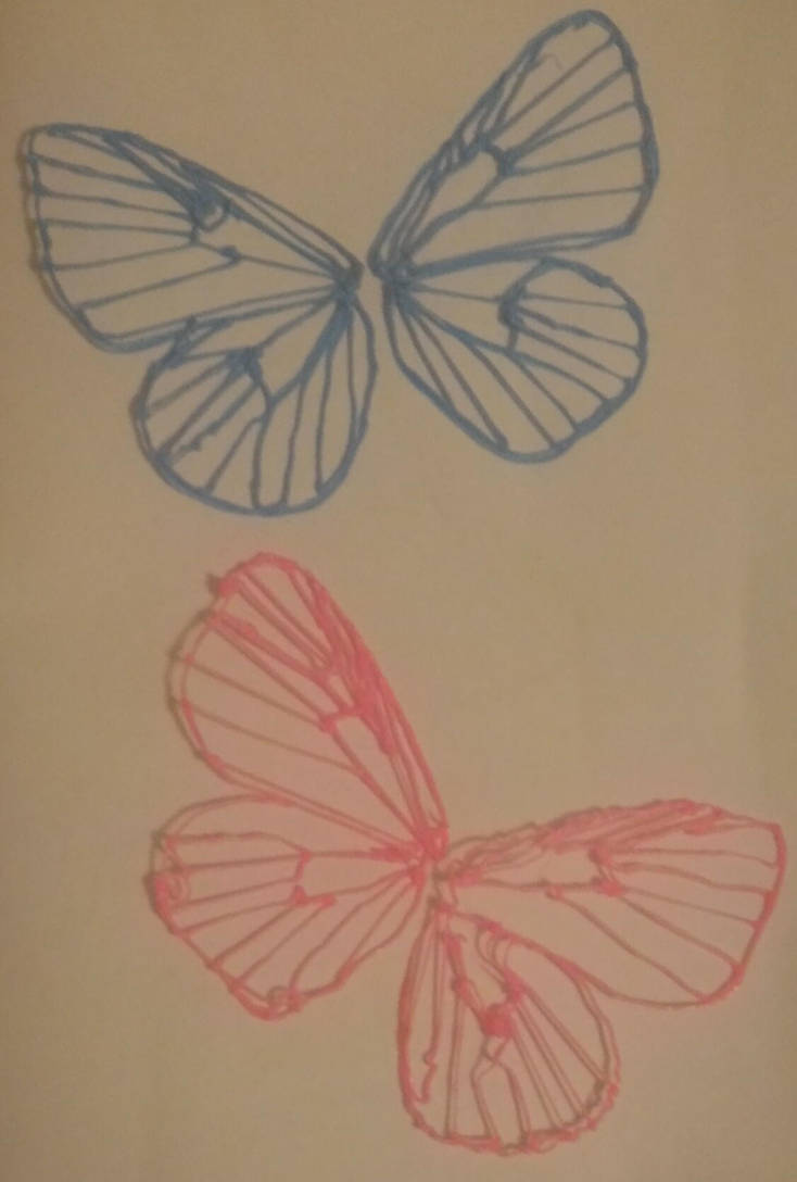 3Doodled Butterfly Wings by AuroratheIceWing
