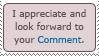 Comment Appreciation by TheLoveTrain