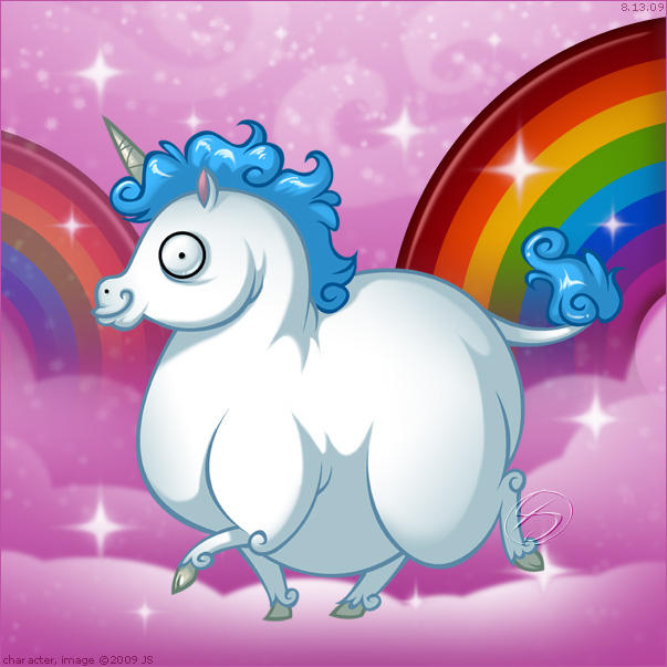 Fat Unicorn by zillabean