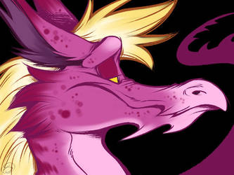 Pink dragons and stuff by zillabean