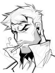 Constantine doodle by zillabean