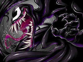 Venom inky squiggle wiggle by zillabean