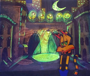Taco El Gato animation cel glows! by TacoElGatoComics