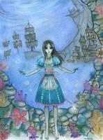Alice madness underwater by Alexsiel