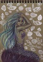 Green mermaid by Alexsiel