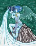 Lapis Lazuli as Oceanid by Alexsiel